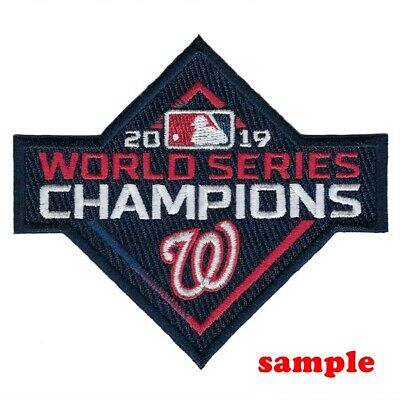 Washington Nationals (a) Iron on Patch Embroidered World Series Champions 2019