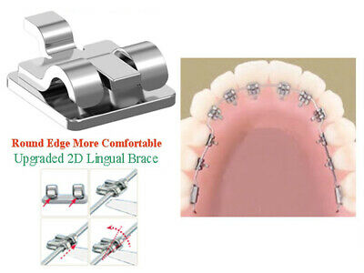 2D Lingual Brackets Metal Dental Orthodontic Archwire Buccal Tube Molar Bands