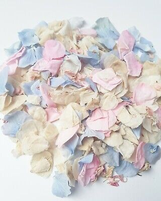 Cinderella Real Flower confetti mix, Dusty blue, Pink Rose and Ivory