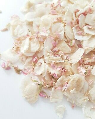 Ivory + Candy pink MIX Natural Dried Flower petal for wedding throwing confetti