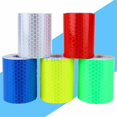 Reflective Safety Warning Tape Film Sticker Conspicuity Tape Roll 5 Colors 300mm