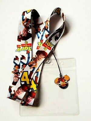 Toy Story Woody Lanyard Neck Strap + Clear ID Holder + Charm