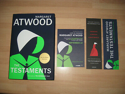 Margaret Atwood The Testaments Signed US 1st Booker Prize Winner 2019 bookmarks