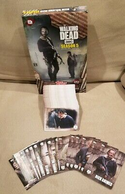 2016 Topps The Walking Dead Season 5 Complete Base Set + 24 Inserts