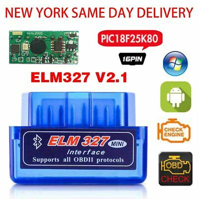 Mini ELM327 Bluetooth V2.1 OBD2 Car 2019 New Tool Scanner Android