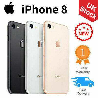 New Apple iPhone 8 64GB 256GB Factory Unlocked Smartphone Various Colours UK