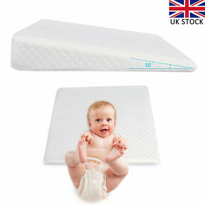 Baby Wedge Anti Reflux Colic Pillow Memory Foam Cushion For Pram Crib Cot Bed UK