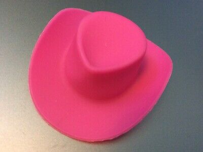 Barbie Size Pink 2.25 inch Plastic Hat Dog Cat Picture Prop Craft Doll Cake Top