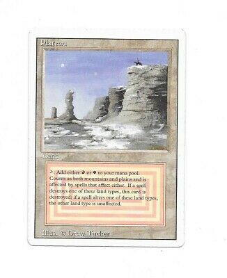 Magic The Gathering MTG Revised Plateau VG Condition