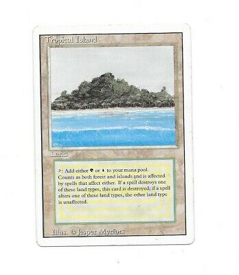 Magic The Gathering MTG Revised Tropical Island VG Condition