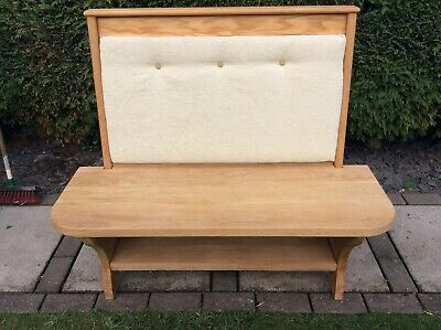 Solid oak settle/pew/ monks bench