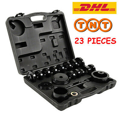 23PC FWD Front Wheel Drive Bearing Press Tool Removal Adapter Puller Pulley Kit