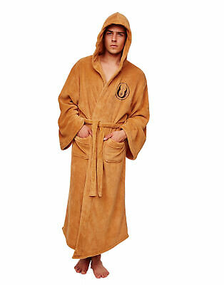 Star Wars Jedi Fleece Men's Brown Premium Luxury Bathrobe