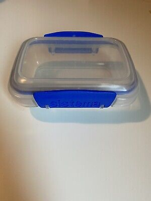 Sistema 200 ML Rectangle Storage Container Clear And Blue