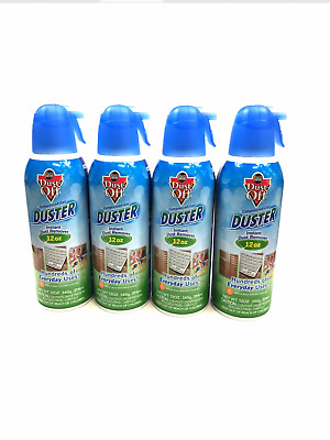 4X- Dust-Off Falcon Professional Electronics Compressed Air Duster, 12 oz