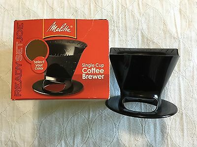 Coffee Brewer Pour Over Melitta Ready Set Joe One Cup Black Plastic Power Outage