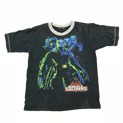 Vintage 1998 Small Soldiers T Shirt Movie Promo Tee Kids Youth Dream Works Film