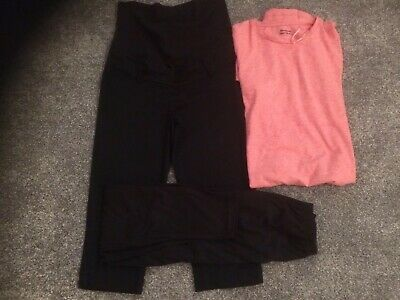 Maternity Clothes Bundle Dress, Trousers, Leggings Sizes 8-10