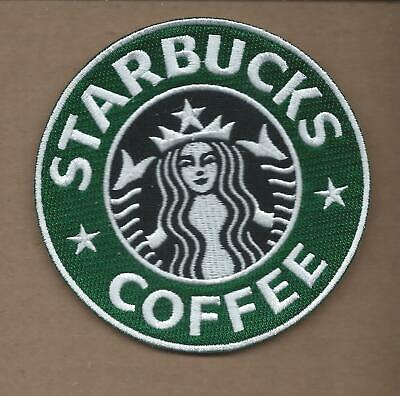 New 4 Inch Starbucks Coffee Iron On Patch Free Shipping P1