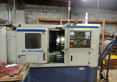 "Used Hwacheon Hi-Tech 200B Cnc Lathe 2000 Fanuc 2"" Bar 10"" Chuck"