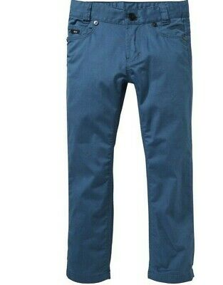 New BOSS Hugo Boss Boys Sz 10 Slim Fit Deep Blue Chinos Jeans Pants Mid Rise