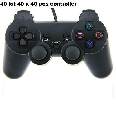40 LOT X PlayStation 2 Dual-Shock Wired Controller Joy Game pad ps2 Wholesale