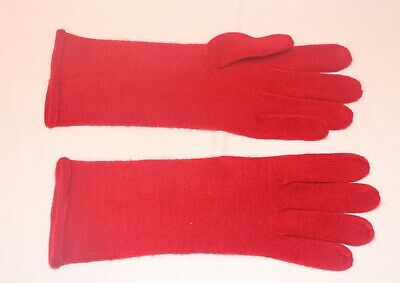 "11"" Long Red Echo Soft Knit Womens Gloves 100% Acrylic"