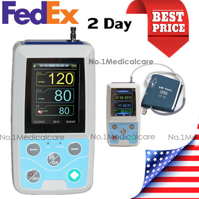 24H NIBP Holter Ambulatory Blood Pressure Monitor, Adult Cuff+PC Software, USA