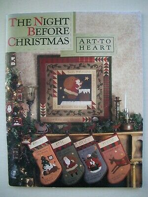 The Night Before Christmas - Nancy Halvorsen - Quilting Applique Pattern Book