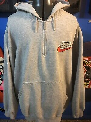 Vintage 90's Nike Embroidered Gray Tag Sweatshirt Size XL Pullover Hoodie