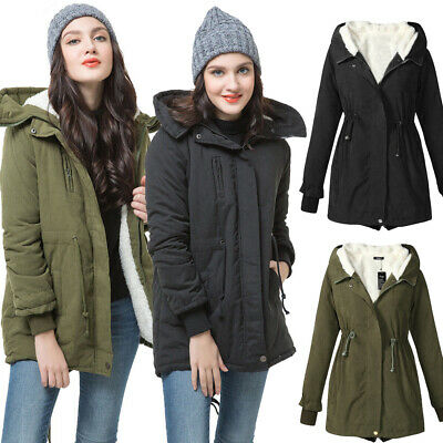 Parka Donna Invernale Lungo Trench Giacca Cappotto Giubbotto Jacket Zip Hoodie