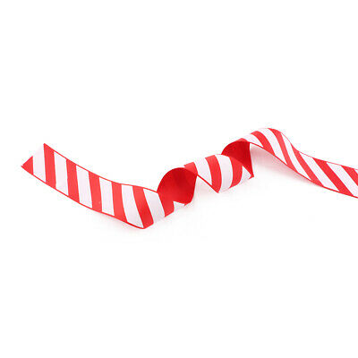 38mm Christmas Candy Cane Stripe Xmas Tree Cake Gift Stripe Red and White Ribbon