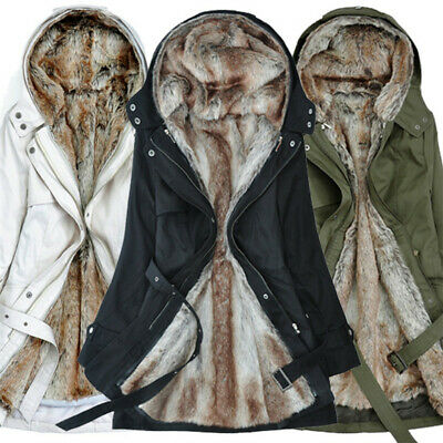 Parka Donna Invernale Lungo Trench Giacca Cappotto Giubbotto Jacket Tops Hoodie
