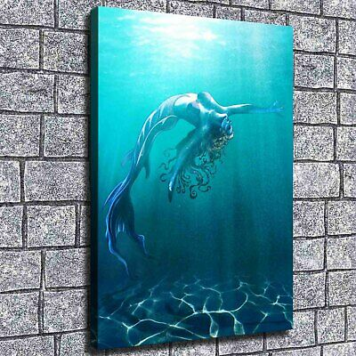 """2""""x16""""Mermaid Series Painting HD Print on Canvas Home Decor Wall Art Picture"""