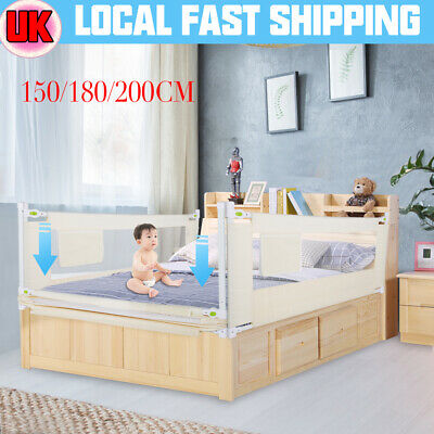 Child Bed Rail Guard Protection Toddler Safety Bedguard Folding 150/180/200cm