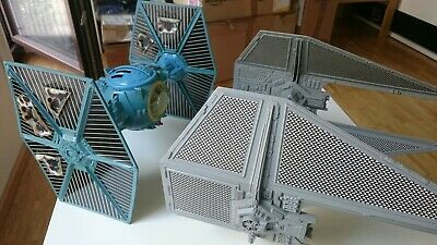 TIE INTERCEPTOR + TIE FIGHTER BATTLE DAMAGED komplett ROTJ 1984 Vintage StarWars