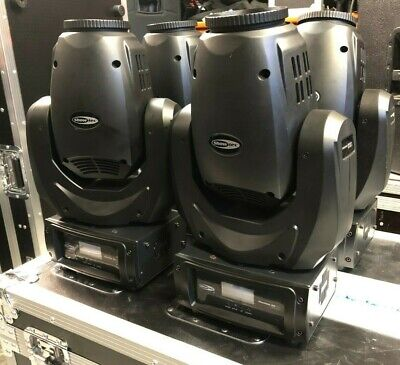 4 x SHOWTEC PHANTOM 30 LED BEAM Moving Heads, Flight cased.