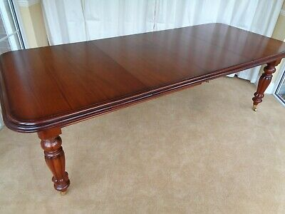 Large Mahogany Extending Dining Table Simbeck Victorian Antique Style Wind Out