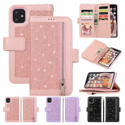Wallet Purse Case For iPhone 7 8 11 Pro Leather Shockproof Flip Stand Card Cover