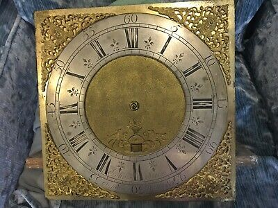 Brass 30hr Longcase clock dial and movement