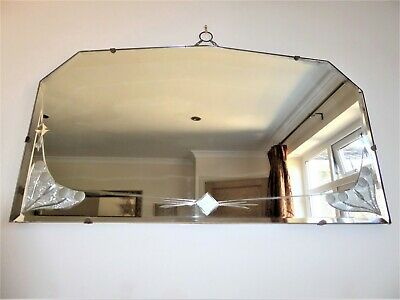 Rare Art Deco Bevelled Edge Mirror 1920, VGC, Statement Piece