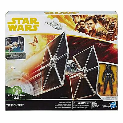 Star Wars E0327 Force Link 2.0 Tie Fighter & Tie Fighter Pilot Action Figure