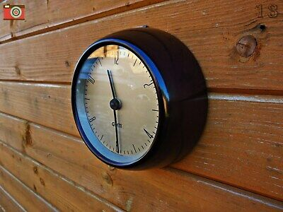 Vintage Gent Of Leicester Small Wall Clock. Very Retro Chic. Restored & Lovely!