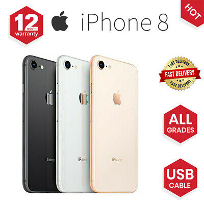Apple iPhone 8 64GB 256GB Space Grey / Silver / Gold Factory Unlocked Smartphone