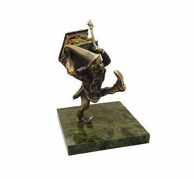 Handmade Dwarf with a bronze chest on a coil stand