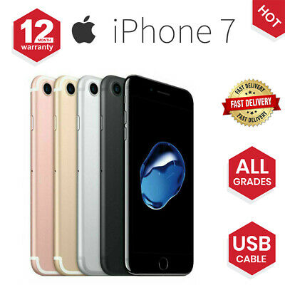 Apple iPhone 7 32GB 128GB Various Grades & Colors Factory Unlocked Smartphone UK