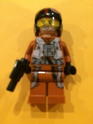LEGO STAR WARS X-WING PILOT POE DAMERON MINIFIGURE 75102 /& BLASTER NEW GENUINE