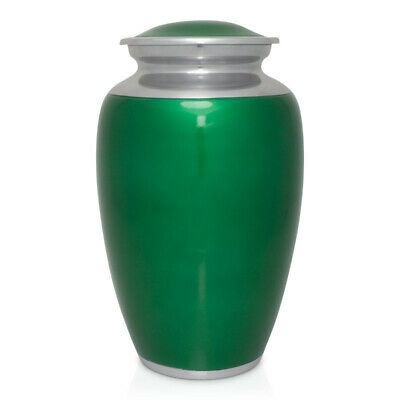 Funeral Urns for Ashes Memorial Cremation Urn for Human Ashes Adults Large Green