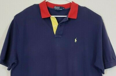 Ralph Lauren Polo Shirt Size XL Blue Great Condition Mens Classic Look