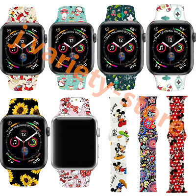 New Christmas Gift Silicone Strap Band for Apple Watch iWatch Series 5/4 40/44mm